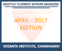 Vedanta Monthly Current Affairs April 2017 Magazine Free Download
