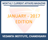 Vedanta Monthly Current Affairs January 2017 Magazine Free Download