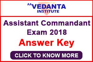 CAPF AC Exam 2018 Answer Key