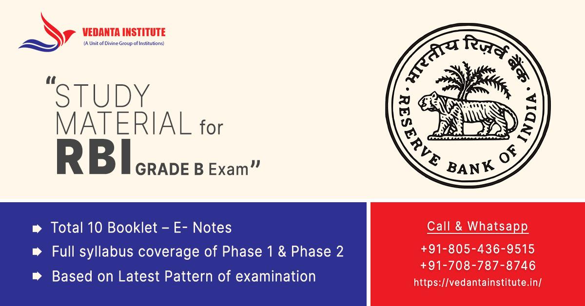 study material for rbi grade b